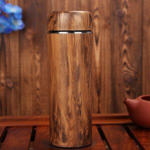 bình giữ nhiệt vỏ tre khắc logo quà tặng